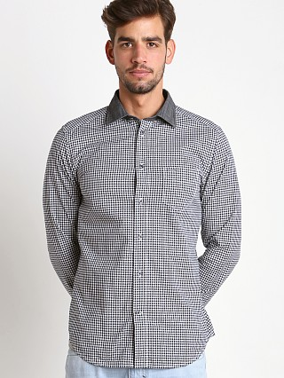 Diesel S-Vic Yarn Dyed Check Cotton Shirt Black