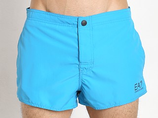 Emporio Armani Button Swim Shorts Turquoise