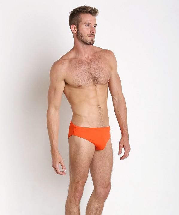 Hot Emporio Armani Classic Swim Brief Red Orange free shipping