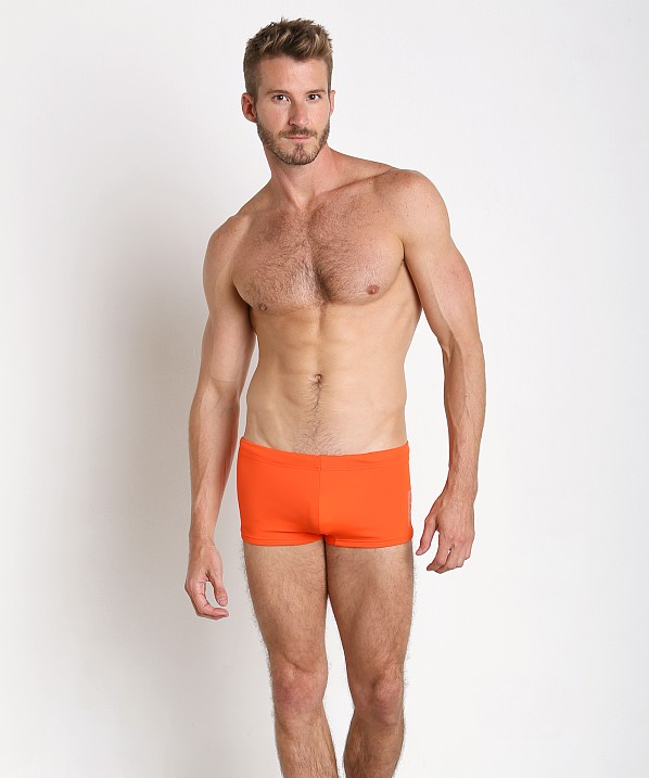 Top Emporio Armani Classic Swim Trunk Red Orange MxqAAusW