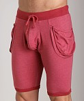 Go Softwear 100% Cotton Yoga Short Cardinal, view 3