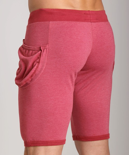 Go Softwear 100% Cotton Yoga Short Cardinal