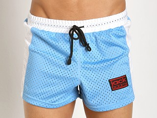 Jack Adams Air Mesh Gym Short Sky/White