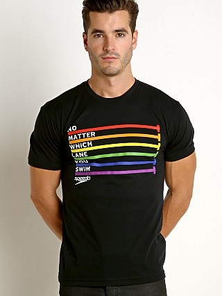 Speedo Rainbow Pride Tee Black/Rainbow