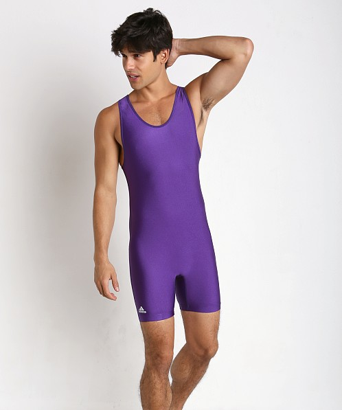 Adidas Solid Wrestling Singlet Purple
