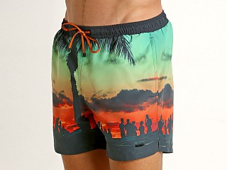 Hugo Boss Swordfish Swim Shorts Sunset Print