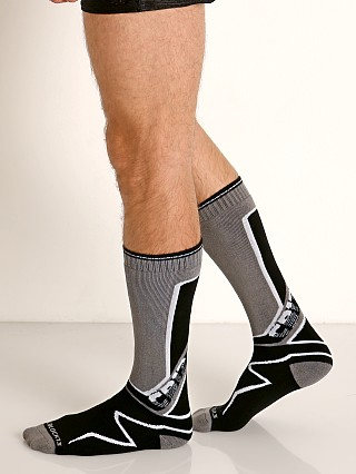 Cell Block 13 Kennel Club Calf Socks Grey