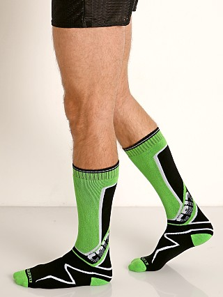 Cell Block 13 Kennel Club Calf Socks Green