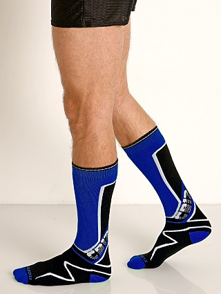 Cell Block 13 Kennel Club Calf Socks Blue
