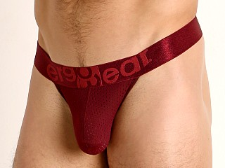 Model in burgundy Ergowear MAX ULTRA Slim Thong