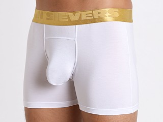 Model in white John Sievers California Gold Natural Pouch Boxer Briefs