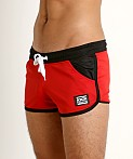Jack Adams Ultralite Running Short Red/Black, view 3