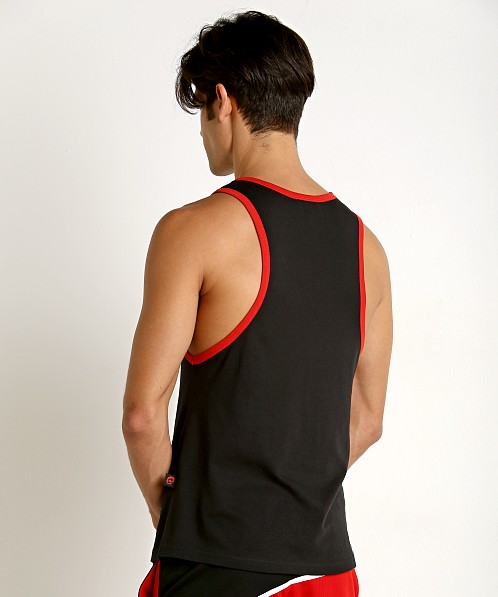 Jack Adams Muscle Tank Top Black/Red