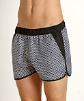 Jack Adams Rincon Swim/Gym Short Black Print, view 3