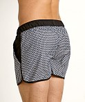 Jack Adams Rincon Swim/Gym Short Black Print, view 4