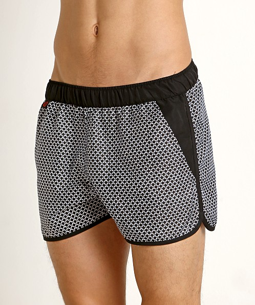 Jack Adams Rincon Swim/Gym Short Black Print