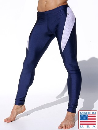 Rufskin Requim Shiny Lycra Sport Leggings Navy
