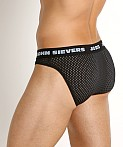 John Sievers STRETCH MESH Natural Pouch Brief Black, view 4