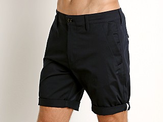 Model in mazarine blue G-Star Bronson Premium Twill Shorts