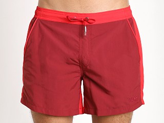 Hugo Boss Snapper Swim Shorts Burgundy/Red