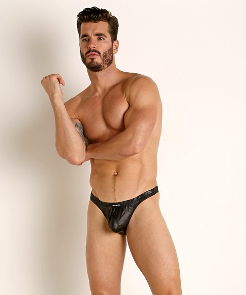 Rick Majors Ripstop Wet Look Thong Black