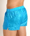 Rick Majors Ripstop Wet Look Shorts Turquoise, view 4