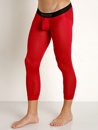 Model in red McKillop Max Bulge Modal Long John