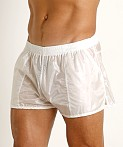 Rick Majors Ripstop Wet Look Shorts White, view 3