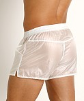 Rick Majors Ripstop Wet Look Shorts White, view 4