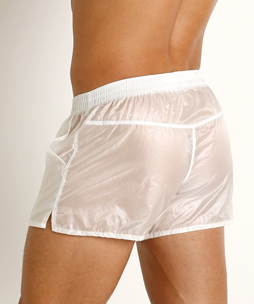 Rick Majors Ripstop Wet Look Shorts White