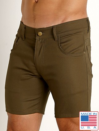 Rick Majors Cotton Twill 5-Pocket Shorts Olive