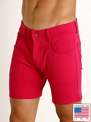 Rick Majors Stretch Jersey 5-Pocket Shorts Fuchsia