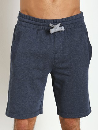 Model in denim heather 2xist Active Core Terry Short