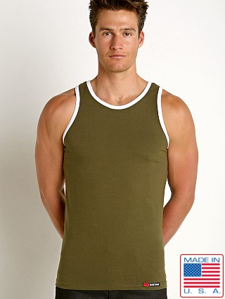 Go Softwear California Classic Tank Top Green/White