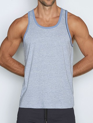 Model in dean blue heather C-IN2 Hand Me Down Relaxed Tank Top