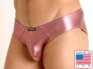 Model in pink Rick Majors Liquid Skin Hip Brief