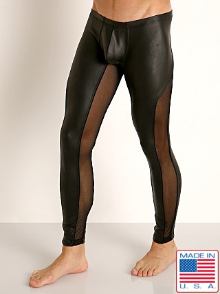 Model in black/black Rick Majors Dark Mode Leggings