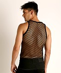 Rick Majors Diamond Mesh Tank Top Black, view 4