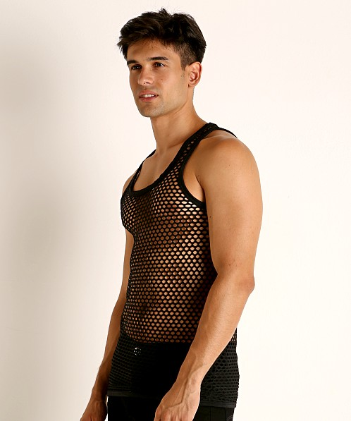 Rick Majors Diamond Mesh Tank Top Black