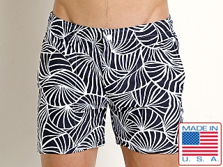 LASC Laguna Swim Shorts Navy Fronds