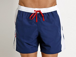 Emporio Armani Color Block Swim Boxer Blue