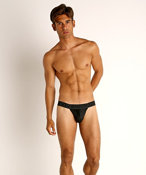 Modus Vivendi Glam Sparkle Tanga Sports Brief Black