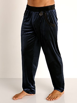 Model in navy Modus Vivendi Tiffany's Velvet Mesh Lounge Pant