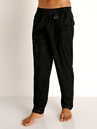 Model in black Modus Vivendi Tiffany's Velvet Mesh Lounge Pant