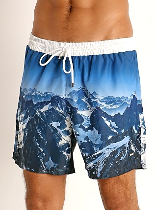 Model in blue Hugo Boss Springfish Swim Shorts