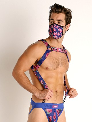 Model in floral blue Vaux VX2 Neoprene Harness
