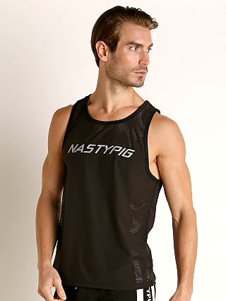 Model in black Nasty Pig Stealth Tank Top