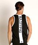 Nasty Pig Title Ripcord Tank Top Black, view 4
