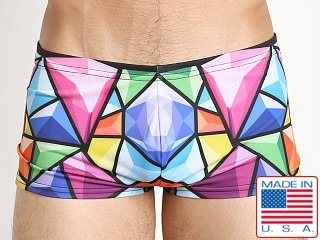 Marco Marco Bevel Swim Trunk Blue/Purple