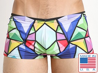 Marco Marco Bevel Swim Trunk Blue/Green